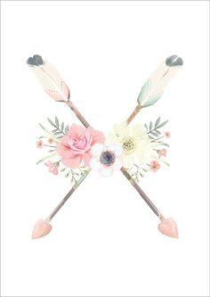 Flower & Arrows Print