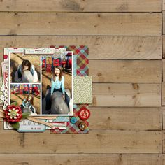 Digital Scrapbook Layout by aballen featuring Apple Orchard by Sahlin Studio