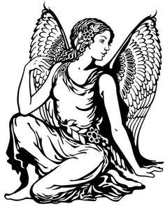 Angel Heaven Woman 3.5 inch Sticker Vinyl Decal Stickers die cut