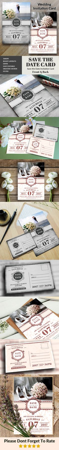 Buy Wedding Invitation by afjamaal on GraphicRiver. This Wedding Invitation Card is made in photoshop the files included are help file and photoshop . Free Wedding Invitation Templates, Wedding Invitation Card Design, Invitation Text, Card Box Wedding, Jewel Tone Wedding, Barn Wedding Decorations, Wedding Games, Wedding Ideas, Save The Date Cards