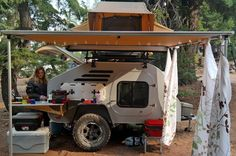Teardrop Trailer Lifestyle: Pictures and information about the way people camp with teardrops. - Oregon Trail'R - Teardrop Trailers and Accessories Adventure Trailers, Off Road Trailer, Bug Out Vehicle, Camper Caravan, Teardrop Trailer, Pictures Of People, Outdoor Life, Recreational Vehicles, Camping