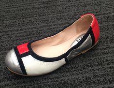 Bloch Elenora Silver Red White #BalletPump #girlsshoes