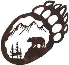 Used this image in one of my Pyrography projects. native bear paw tattoo