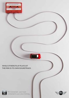 Mini car advertising. Great graphic design