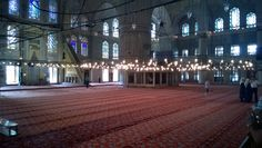 Inside the Blue Mosque, İstanbul.