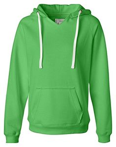 sueded 60% cotton/40% polyester; 9 oz.; thick and flat white drawcord; cut v-neck; 2x1 rib-knit trim; raw edges on hood and pocket; Sizes: S-2XL