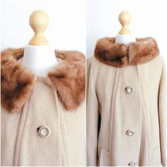 Vintage 1940's Hollywood Regency Mink Neck Wrap Opera Coat by LAPraxis on Etsy