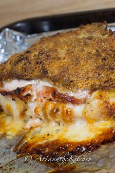 Pork Chops Cordon Bleu | Art and the Kitchen - this recipe for pork chops is amazing, stuffed with Canadian back bacon, Gruyere cheese with a crispy crust.