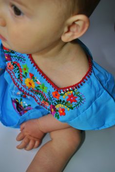 This Really Cute!!  The Jennifer Mexican Infant Toddler Embroidered Dress by keesandme, $45.00