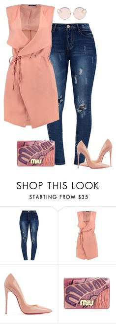 """Fall!"" by cristalmichel ❤ liked on Polyvore featuring Boohoo, Christian Louboutin, Miu Miu and N°21"