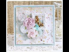 Shabby Chic Card Tutorial Prima Marketing Heaven Sent Collection - YouTube