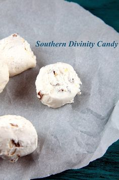 Southern Divinity Candy _ When I was younger when we would go on road trips my mom would always want to buy divinity from Stuckey's. It was the only time in my life that I ever had divinity. Until I decided to make some. Tasted just like I remembered as a kid!