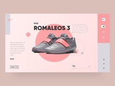 UI Design - Nike Shoes Web Concept by Manish Singla Designs for uigate on Dribbble Ad Design, Layout Design, Branding Design, Web Ui Design, Email Design, Print Layout, Web Layout, Website Layout, Nike Web