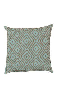 Linen Pillow Kit - Robin's Egg Blue/Driftwood Brown