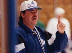 Pat Burns was an awesome coach. Maple Leafs Hockey, Hockey Baby, Hockey Stuff, Love My Boys, Toronto Maple Leafs, Nhl, Burns, Canada, Game