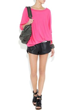 leather shorts for summer