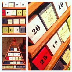 """TheBasementShop on Twitter: """"#wood #advent #calendar with hooks for hanging small surprises and space for 'post-it' notes http://t.co/octUAWyPAk"""""""