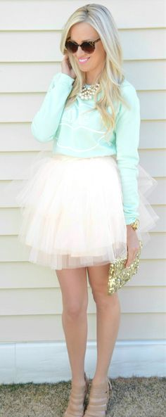 MINTY TULLE by McKenna Bleu, I think this is adorable for the girl who has the personality to wear it; it's like a contemporary Tinkerbell.
