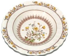 Spode Bowl-Buttercup Rimmed Bowl-Chelsea Wicker by CocoRaes