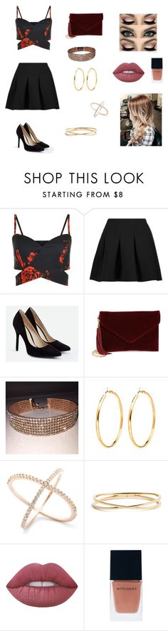 """idk"" by ktbspa-and-loveislove on Polyvore featuring moda, T By Alexander Wang, JustFab, BP., Nadri, Lime Crime y Witchery"