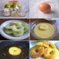 Rodajas de manzana fritas, un postre delicioso para los niños