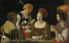"""""""The Cheat with the Ace of Diamonds,"""" Georges de la Tour, 1635, Louvre"""