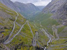 The famous mountainroad Trollstigen in Norway
