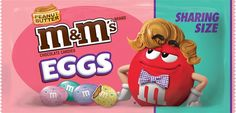 Fact: the best type of eggs are peanut butter-filled. Even better if they're speckled and you can eat them by the handful. Available at: Grocery stores and major retailers nationwide Peanut Butter M&ms, Peanut Butter Brands, Peanut M&ms, Peanut Butter Filling, Easter Candy, Easter Treats, Smarties Chocolate, Types Of Eggs, Junk Food Snacks
