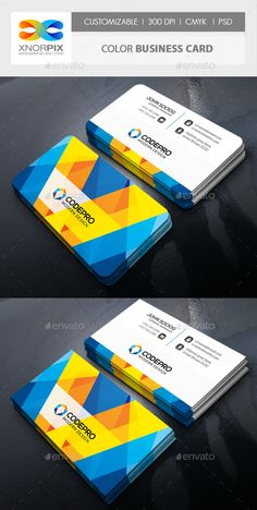 Color Business Card by -axnorpix Features : • Round /square corner possible. • Easy to edit. • Landscape Design.• Optimized for printing / 300 dpi. • CMYK color mo Business Cards Layout, Professional Business Card Design, Letterpress Business Cards, Blank Business Cards, Business Card Psd, Construction Business Cards, Construction Birthday, Construction Design, Layout Design