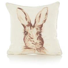 George Home Watercolour Hare Cushion   Cushions & Throws   ASDA direct