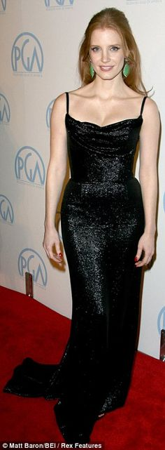 Jessica Chastain. She has the exact same body shape as me. And hair color.