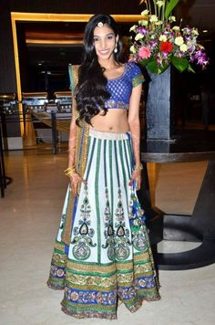 Sabyasachi blue, green and white