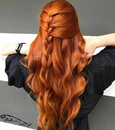 25 Assumed Redheads Orange Hair Color Ideas For You Cute Ponytail Hairstyles, Pretty Hairstyles, Formal Hairstyles, Men's Hairstyle, Funky Hairstyles, Red Hair Ponytail, Wedding Hairstyles, Redhead Hairstyles, Hairstyles Videos