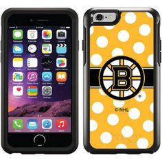 Boston Bruins Polka Dots Design on OtterBox Symmetry Series Case for Apple iPhone 6