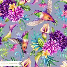 Tropical Flowers, Plumeria Flowers, Floral Flowers, Flowers Garden, Illustration Botanique, Botanical Illustration, Watercolor Illustration, Violet Background, Watercolor Background