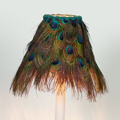 peacock feather shade. Ok, love this, but now I might just be getting carried away with the peacock decor!!! Hehehe.