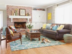 colorful living room | Rafterhouse