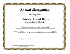 Free Printable Award Certificate Borders | Free Printable Certificate 2b