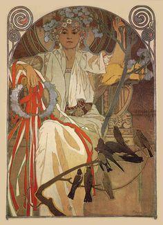 Art and Artists, Paintings, Painters, Prints, Printmakers, Illustration, Illustrators Art Nouveau Poster, Art Deco Posters, Tarot, Spring Festival, New Art, Alphonse Mucha Art, Mucha Artist, Erte Art, Drawing