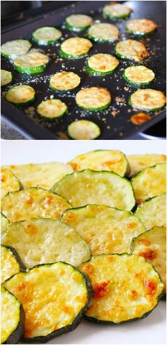 Baked Parmesan Zucchini Rounds ~ you're just 2 ingredients away from a quick and easy, delicious side dish! Baked Parmesan Zucchini Rounds ~ you're just 2 ingredients away from a quick and easy, delicious side dish! Veggie Dishes, Vegetable Recipes, Side Dishes, Vegetarian Recipes, Diet Recipes, Cooking Recipes, Healthy Recipes, Vegetarian Tapas, Tapas Dishes