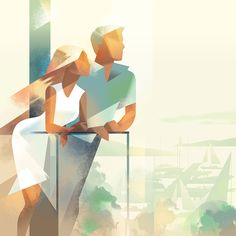 Get Ready for Summer with these Stylish, Elegant Illustrations - Digital Arts