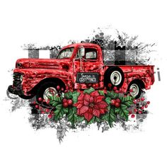 Vintage Truck Christmas Sublimation Transfer,Great for Mouse Christmas Red Truck, Vintage Christmas, Merry Christmas, Christmas Decor, Christmas Poinsettia, Plaid Christmas, Christmas 2017, Christmas Stuff, Christmas Time
