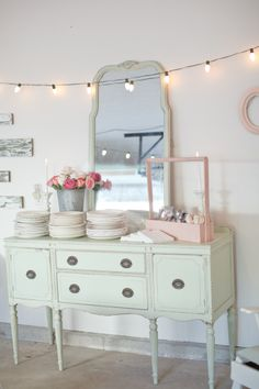 mint and pink - so pretty!  Great idea for a shower!  Katy!!!