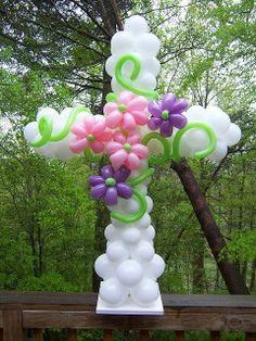 balloon art Easter cross