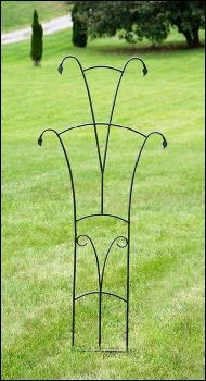Garden Trellises | Cottage Garden Decor Such a simple solution for your small vines.