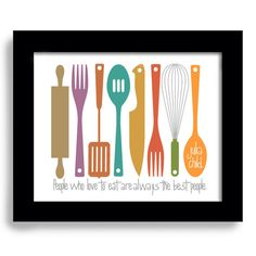 kitchen art print julia child colorful kitchen cooking quote art print.