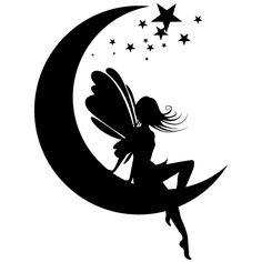 Fairy Silhouette, Silhouette Tattoos, Silhouette Clip Art, Tattoo Hada, Pencil Drawings For Beginners, Fairy Drawings, Fairy Lanterns, Fairy Jars, Stencil Art