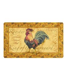 Love this Country Rooster Comfort Mat by Apache Mills on #zulily! #zulilyfinds