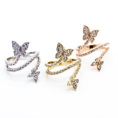 - Yellow Gold / Silver / Rose Gold plated - High Quality Cubic Zirconia details - Available in sizes US 6-8