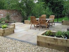 North facing garden paved - Google Search